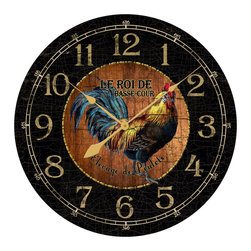 """Tyler - Rooster Clock Chic, 36"""" - Beautifully designed"""