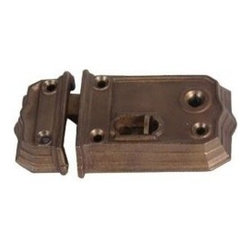 Restorers 2 7/8 Inch Backset Traditional Rim Lock - If you've ever needed a rim lock in an odd size you know how difficult it can be to find. Van Dyke's has taken original examples of these hard to find locks and had them authentically recreated to our exacting standards.