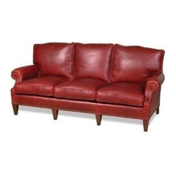 EuroLux Home - Sleek New Leather Sofa USA Hand-Crafted - Product Details