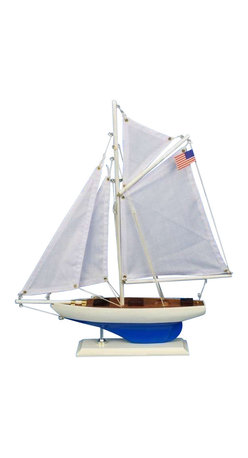 """Handcrafted Model Ships - Defender 16"""" - Nautical Decor - Not a model ship kit"""