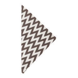 """Pine Cone Hill - PCH Chevron Charcoal Napkin Set of 4 - PCH delivers simple style to the dining table with Chevron cloth napkins. Layer this classic zig zag pattern with table linens in other patterns and colors to create a range of contemporary looks. 22"""" Square; Set of 4; 50% cotton, 50% linen; Designed by Pine Cone Hill, an Annie Selke company; Machine wash, tumble dry low"""