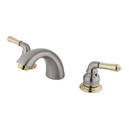 Kingston Brass - Two Handle 4in. to 8in. Mini Widespread Lavatory Faucet - Two Handle Deck Mount, 3 Hole Sink Application, 4in. to 8in. Mini-Widespread, Fabricated from solid brass material for durability and reliability, Premium color finish resists tarnishing and corrosion, 1/4 turn On/Off water control mechanism, 1/2in. IPS male threaded inlets with rigid copper piping, Duraseal washerless cartridge, 2.2 GPM (8.3 LPM) Max at 60 PSI, Integrated removable aerator, 4-1/2in. spout reach from faucet body, 3-1/2in. overall height.