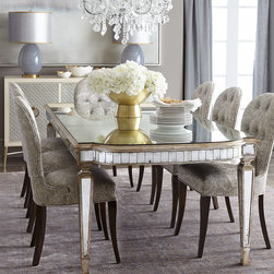 Cara Dining Chair & Eliza Mirrored Dining Table -
