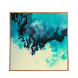 Caleb Troy Painted Clouds V Framed Wall Art - Bamboo frame with high gloss print