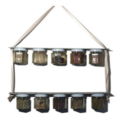 Junk Yard Chic industrial old fashioned  rustic magnetic spice rack - Amanda Gynther