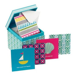 Jonathan Adler - Jonathan Adler Gift Enclosures, Assorted - An assortment of gift enclosures will ensure your gifts will always look stylish. From Jonathan Adler, the enclosures come in a reusable, chic patterned gift box.