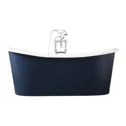 "Penhaglion - 'The Hexham' 73"" Cast Iron French Bateau Tub Package from Penhaglion - Product Details"
