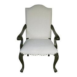 NOIR - NOIR Furniture - Blanch Armchair in Pale - GCHA216AP - Blanch Collection Arm Chair