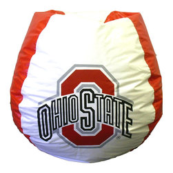 "Bean Bag Boys - Ohio State Buckeyes Logo Bean Bag - Firm in the face of a tempest, ever reaching outwards and continually growing and adapting - this not only describes the Ohio State Buckeye tree, but also the athletes who adopted such a moniker as the nickname for their school's teams. * Durable vinyl constructionBean bag features logo for Ohio St. Buckeyes 30"" X 30"" 36"". 112"" Circumference10 lbs."