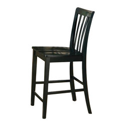 "Coaster - Counter Height Stool (Black) By Coaster (Set Of 2) - This lovely counter height chair will be a great addition to your casual dining and entertaining area. The casual contemporary design is simple and timeless. A vertically slatted back and square legs create the look, while a contoured wooden seat adds to the comfort of this chair. Pair with the matching counter height table for a casual dining ensemble that guests will enjoy. Casual Style Leg base Contoured wooden seat Vertically slatted back Minimum order quantity of 2 chairs Specifications: Product Dimensions: 18""""W x 40""""H x 22""""D Product Weight: 14.5 lbs. each"