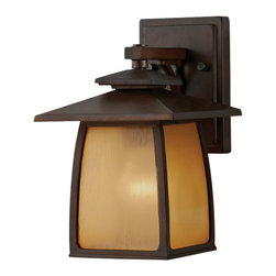 Feiss - Feiss OL8500SBR Wright House 1 Light Sorrel Brown Outdoor Wall Sconce - Finish: Sorrel Brown