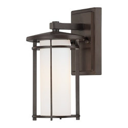 Minka Lighting - Bronze Outdoor Wall Light - 72311-615B - Dorian Bronze 1-Light Outdoor Wall Light. Takes (1) 100-watt incandescent A19 bulb(s). Bulb(s) sold separately. UL listed. Wet location rated.