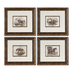 Uttermost 33590 Horses Wall Art - Uttermost 33590 Horses Wall Art*Collection: Horses*Set of 4*Designed by Grace Feyock*Weight: 21