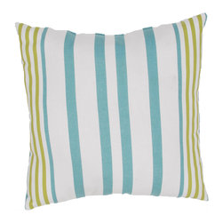"""Jaipur Rugs - Blue/Green color polyester odl hugo poly fill pillow 20""""x20"""" - These fashion forward pillows, in trellis, stripes and whimsical patterns are for both indoor and outdoor use."""