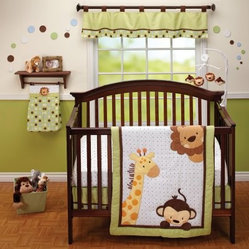 Little Bedding by NoJo Jungle Pals 3 pc. Comforter Set