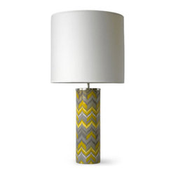 Jonathan Adler Large Carnaby Flame Lamp - This beautiful lamp has electric style and will pump up the style in any room in your house. Me, I'm dreaming of a pair flanking my bed.