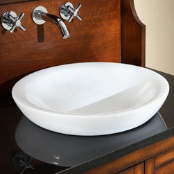 Xylem - Semi-Recessed Round Vitreous China Vessel - C - Manufacturer SKU: CSR169RD. Custom vanity top cutout required. Semi-recessed application. Vitreous China. Vanity, vanity top and faucet not included. cUPC Certified. 16.9 in. L x 16.9 in. W x 5.5 in. H (19 lbs.). View Specification SheetTimeless elegance meets everyday functionality with this Semi-Recessed vitreous china sink.