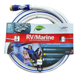 """Swan Products - Element Marine RV 50' Hose - Element Marine & RV 5/8""""x50' - Lead free.  Kink resistant.  Phthalate safe.  Drinking water safe.  Water Hose with high performance Stainless Steel couplings and a high burst strength.  All from America #1 hose manufacturer- Colorite."""