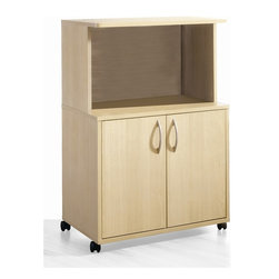 Nexera - 2 Door Mobile Microwave Cart (Natural Maple) - Finish: Natural MapleClosed storage. Economical. Casters for easy mobility. Made of engineered wood. Assembly required. 24 in. W x 16 in. D x 36 in. H (43 lbs.)A practical, functional and economical storage collection. Well-thought storage furniture for every room of the house.