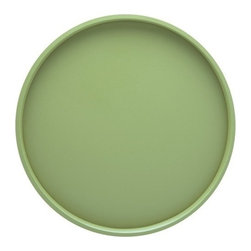 Kraftware - Serving Tray in Mist Green - Made in USA. 14 in. Dia. (1.5 lbs.)Our Fun Colors Collection features the hottest colors for the season, to provide you with great entertaining items, with up to the minute styling. Great for indoor and outdoor entertaining.