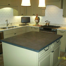 Traditional Kitchen Countertops by Hightower Concrete Works, LLC