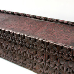 African Living Room Furniture - Cameroon Bed - BBC 010: 180cm x 45cm x 18cm high: