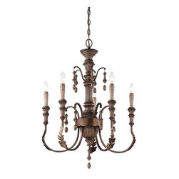Minka Lavery - Minka Lavery 4125-563 5 Light 1 Tier Candle Style Chandelier from the Candlewood - Five Light Single Tier Candle Style Chandelier from the Candlewood CollectionFeatures:
