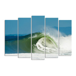 Ready2HangArt - Ready2hangart Nicola Lugo 'Closing' Canvas Wall Art - Renowned Surf Photographer Nicola Lugo, takes you behind the lens of his travels worldwide. This photograph is offered as part of a limited 'Home Decor' line, being the perfect addition to any living or work space.
