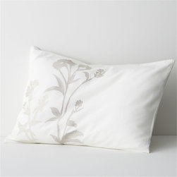 Set of 2 Woodland Standard Shams - I love the thought of adding this subtle pattern to a pretty bed.