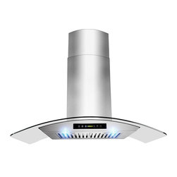 """ADKY - AKDY AG-ZH703C Euro Stainless Steel Wall Mount Range Hood, 30"""" - With more convenience, performance and style, AKDY range hoods are changing the way the modern family cooks. With variable speed fan control, this hood effectively removes smoke and vapors from the kitchen. A cooktop light assists when preparing meals on the range. And, the removable baffle filter is dishwasher safe. When it comes to style, these hoods can complement any kitchen decor. By incorporating multiple exhaust options and a modern appearance, AKDY provides innovative range hoods designed to accentuate today's lifestyles."""