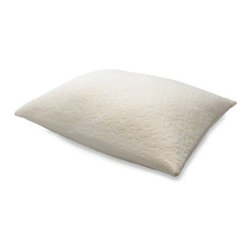Tempur-pedic - Tempur-Pedic Comfort Pillow in Queen - The Tempur-Pedic Comfort Pillow provides plush comfort with a luxurious appearance. The temperature and pressure sensitive pillow also gives you the support your body needs by molding to your shape.
