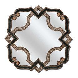 Paragon - Paragon Black/Gold Serpentine by Mirrors  - 37 X 37 - Title Paragon Black/Gold Serpentine by Mirrors  - 37 X 37