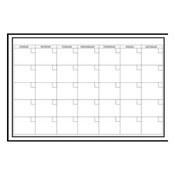 "WallPops - White Board Monthly Calendar Wall Decal - The White Board dry-erase monthly calendar is clean, simple and very functional. Get organized in a classic fashion with this flawless white calendar wall decal. White Board Monthly Calendar is 24"" x 36"" and includes a WallPops Dry-Erase Marker. White Board Monthly Calendar is repositionable and totally removable."