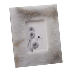 Lazy Susan - Lazy Susan Solid Slab Alabaster Frame X-410687 - Made from natural alabaster
