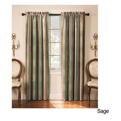 None - Tuscan 95-inch Thermal-backed Black-out Panel Pair - Designed to reduce energy loss through heat transference, this elegant panel pair offers blackout capabilities. Capable of blocking up to 40 percent more noise than standard curtains and maintaining a constant temperature, theyre ideal for any home.