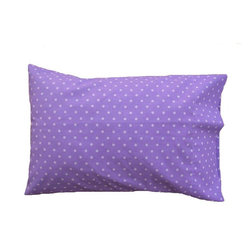 "A Little Pillow Company LLC - ""A Little Pillow Company"" 100% Cotton TODDLER PILLOWCASE, Purple Dots - Size: 14 in x 19 in"