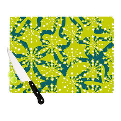 "Kess InHouse - Miranda Mol ""Festive Splash"" Cutting Board (11"" x 7.5"") - These sturdy tempered glass cutting boards will make everything you chop look like a Dutch painting. Perfect the art of cooking with your KESS InHouse unique art cutting board. Go for patterns or painted, either way this non-skid, dishwasher safe cutting board is perfect for preparing any artistic dinner or serving. Cut, chop, serve or frame, all of these unique cutting boards are gorgeous."