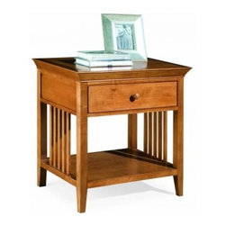 """American Drew 181-400M Drawer Night Stand - Maple Sterling Pointe - Drawer Night Stand - Maple - American Drew Sterling Pointe Collection 181-400MFeatures:1 Shelf1 DrawerThis Price Includes:Drawer Night Stand - MapleItem:Weight:Dimensions:Drawer Night Stand - Maple48 lbs26"""" W X 17"""" D X 28"""" HManufacturer's Materials:Maple and Hardwood SolidsMaple & Poplar Veneers & Simulated Wood Components"""