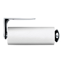 simplehuman - Simplehuman Stainless Steel Wall Mount Paper Towel Holder - This Simplehuman wall mount paper towel holder can mount to a wall,underneath a cabinet,or inside a cabinet door. This paper towel holder can be mounted in any direction to best fit your space.