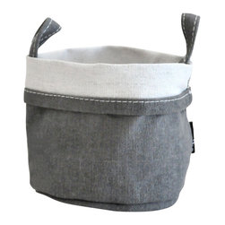 MAIKA - Recycled Canvas Bucket, Waxed Ash, Small - AS SEEN ON THE TODAY SHOW