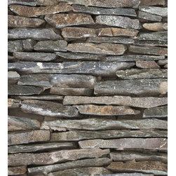 "Wizard & Genius - Stones Stripe Wall Decals - Bring a natural inspiration to your walls with this stone wall decal. In 3 easy to install peel and stick panels, this wall art creates a strip of stacked stones in an organic mix of slate grey hues. Contains three 18.5"" x 26.75"" sheets - 18.5"" x 80.25"" assembled. Imported from Germany."
