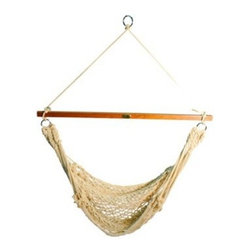 Single Point Rope Hammock Chair - You can't go wrong with a hammock swing. This one is perfect for reading, relaxing or catching bubbles.