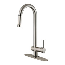 LessCare - Brushed Nickel Finish Pull-Down Kitchen Faucet LK13B, 1 hole / 3 holes - *Country/Region of Manufacture: China