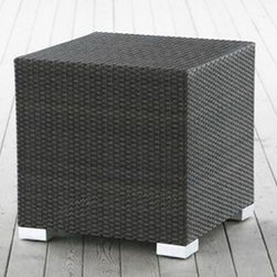 King Wicker Large Cube Side Table - For comfortable and stylish storage the whole family can enjoy, this King Wicker Large Cube Side Table - Source Outdoor is just what you need! Color and UV protection is saturated throughout the weave