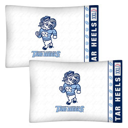 Store51 LLC - NCAA North Carolina Tarheels Football Set of Two Pillowcases - FEATURES: