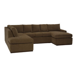 Lazar Industries - Terra U Sectional Sleeper:  3 Seat Middle in Bentley Bark - Terra Sectional:  Chaise and Adjacent 3-Seater Sleeper Sofa Lazar's most compact model allows for a lot of comfort and style regardless of your space.
