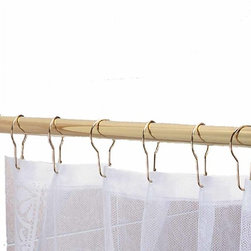 "Renovators Supply - Shower Curtain Rods Solid Brass 6' long brass Shower Curtain Rod | 97306 - Brass shower rod measures 6' long with a 7/8"" outside diameter. The brackets are half-moon shaped."