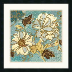 Amanti Art - Sophias Flowers I Blue Framed Print by Wild Apple - Bring your walls to bloom with this lovely framed floral study.