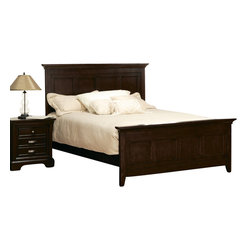Homelegance - Homelegance Glamour 5-Piece Panel Bedroom Set in Espresso - The beauty of the Glamour collection lies in the simple lines and style. The Panel headboard and footboard feature a metal grid pattern to give your bedroom suite an added touch of characteristic.