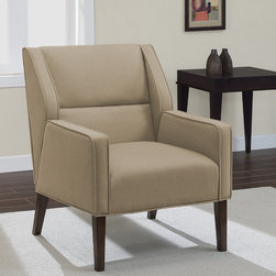 None - Perry Arm Chair Washed Driftwood - The Perry Arm Chair brings a unique design to the home with a deep walnut finish. The clean lines,updated styling and beautiful washed driftwood upholstery color add a bit of sophistication to the room.